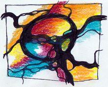 Neurographik-Zeichnung